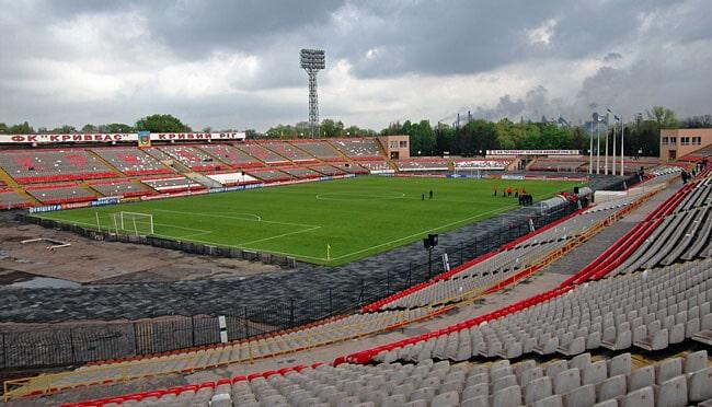 Стадион Металлург Кривой Рог - история и фото на startfootball.info
