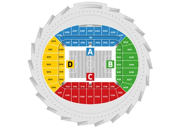 Схема стадиона «Нижний Новгород»