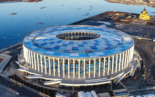 Стадион «Нижний Новгород», вид сверху.